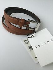 BNWT CELINE CURRY/TAN CALF SKIN BALSAMINE NARROW BRIDLE BELT SIZE S WITH DUSTBAG