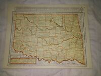1942 Railroad Map of Oklahoma With A Railroad Map of Ohio On The Reverse