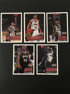 1999/00 NBA Hoops Sacramento Kings Team Set 5 Cards