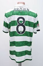 CELTIC SCOTLAND 2010/2011/2012 SIGNED HOME FOOTBALL SHIRT JERSEY NIKE #8 BROWN