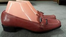 WOMEN'S PREDICTIONS LEATHER UPPER SLIP-ON LOAFERS SHOES SIZE 7M. EUC