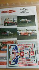 Decals 1/18 réf 828 Citroën Xsara Wrc Loeb Wales 2004