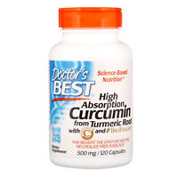 Doctor s Best Curcumin High Absorption 500 mg 120 Capsules Gluten-Free, Soy-Free