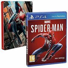 Marvel Spiderman PS4 Playstation 4 +Steelbook