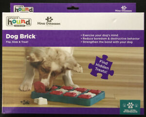 Outward Hound Dog Brick Treat Dispensing Dog Toy Brain and Exercise Game