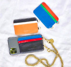 NEW $85 CLARE V. ITALIAN LEATHER PHONE CARD STICK ON WALLET CASE NEW IN BAG USA