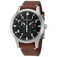 Aerowatch The Grand Classics Pilot Chronograph Black Dial Mens Watch A 83966