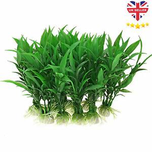 Artificial Fish Tank Plants Aquarium Aquatic Decoration Ornament Grass Flower UK
