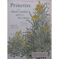 CUVILLIER Charles Primrose Singer Piano 1905 partition sheet music score