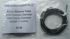 2 Metres of Black Silicone Tube, 2mm O.D. 1mm I.D.