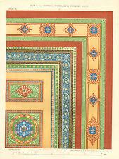Home Decor, Interior Decorator, Design Plate, Vintage, 1855 Antique Art, Print,