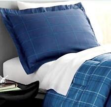 TWIN XL DORM - Student Lounge - 9-pc Blue Plaid SHEETS, SHAM & COMFORTER SET
