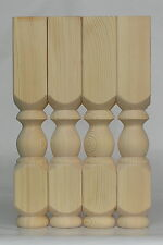 "Set of 4 Solid Pine Refectory Coffee Table Legs, 69 x 425mm Ex 3"" Wooden  A3RCP"