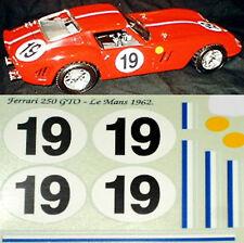 Ferrari 250 GTO 62 Le Mans 1962 #19 - 1:18 Decal Abziehbild