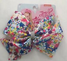 JoJo Siwa Large Hair Bow-Dance Moms Cheer Jo Jo-paint splash multi coloured