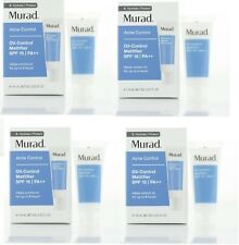 4 x Murad Acne Control Oil Control Mattifier SPF15 0.33oz/10ml  each Exp 1/2020