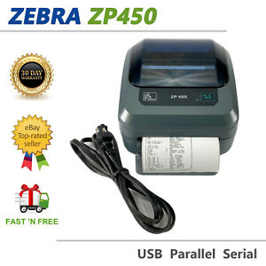 Zebra ZP450 Portable Direct Thermal Label Printer USB ! Front Cover Missing