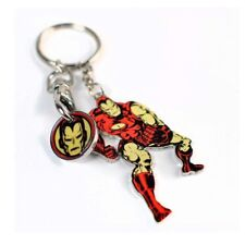 Genuine Marvel Comics Iron Man Figure Metal Keyring Fob Trolley Coin Gift Boxed