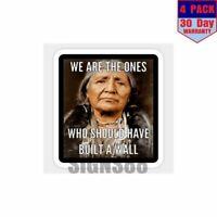 Native American 4 pack 4x4 Inch Sticker Decal