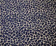 Navy Blue Cheetah Upholstery Spots Ensign Golding Fabric