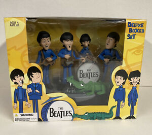 THE BEATLES McFARLANE SATURDAY MORNING CARTOON FIGURES DELUXE BOX SET DOLLS NIP!