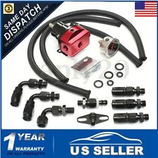 UniversaL Adjustable Fuel Pressure Regulator Kit 160PSI Oil Gauge AN 6 Hose US