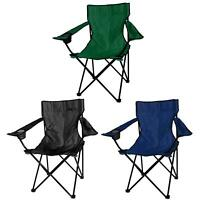 1x Folding Chairs Canvas Camping Chair Portable Fishing Beach Outdoor Garden