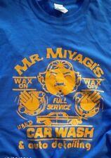 """Mr Miyagi wax on wax off """"Karate Kid"""" detailing custom t-shirt graphic tee s-xL"""