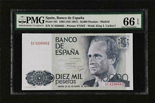 More details for 1985 spain banco de espana 10000 pesetas pick#161 pmg 66 epq gem unc