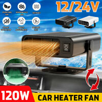 12V/24V 360° Electric Car Heater DC Heating Fan  Defroster Demister Vehicle Fan