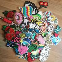 30 Pcs Random Patches Lot Girls Kids Iron On For Clothing Applique Sticker