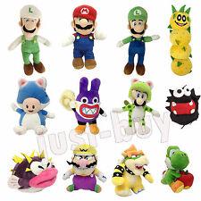 New Super Mario Bros. U 3D Land Luigi Bowser Plush Soft Toy Stuffed Animal Doll