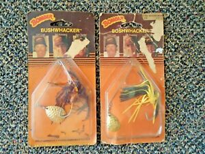 """Vintage Lot Of 2 """" NOS """" Bomber Bushwhacker Spinnerbaits """" GREAT COLLECTIBLE """""""