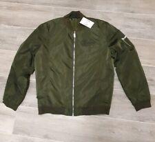 Men's Urban PHYSIQUE Khaki Bomber Jacket Large BNWT RRP £59.99