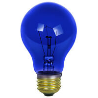 2 Pack Sunlite Incandescent 25 Watt A19 Blue Transparent 1250 Lumens Light Bulb