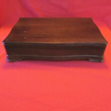 Vintage Wood Silverware Flatware Chest Anti-tarnish lining ww176
