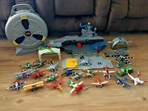 BIG Disney/Pixar Planes Toy Lot Bundle + USS Flysenhower + Carrying Case
