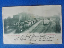 AK Gruss aus Posen - Centralbahnhof - alte Lokomotive