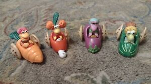 FRAGGLE ROCK VINTAGE 1988 McDONALD'S HAPPY MEAL TOY CARS COMPLETE SET OF 4