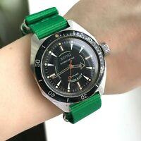 Amphibian Soviet Diver Antimagnetic VOSTOK Men's Barrel Watch USSR Collectible