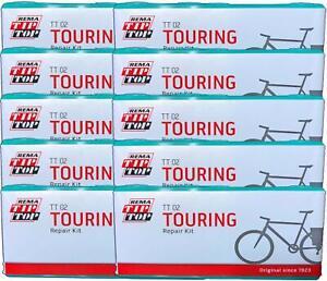 Ten (10) REMA Touring Bicycle Tube Patch Repair Kits TT02 (22)  - Large TT O2