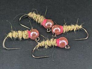 4ea. Tungsten Jig Head Walt's Sexy Worms size #12 W/ Pink collar