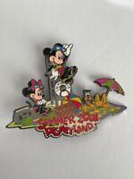 Disneyland Summer 2001 Mickey Minnie Pluto On The Beach Disney Pin LE (A2)