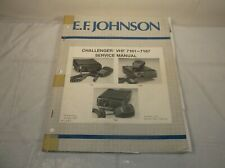 E.F. JOHNSON CHALLENGER VHF 7161-7167 SERVICE INSTRUCTION MAINTENANCE MANUAL