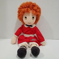 """LITTLE ORPHAN ANNIE Plush Stuffed Doll Toy Applause 16"""" Vintage 1982"""