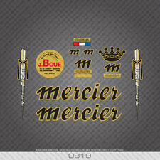 0919 Mercier - Black with Gold Keyline Extended Set Bicycle Stickers - Decals