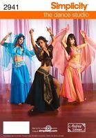 Simplicity 2941 BELLY DANCE HAREM GENIE Costume Pattern 6 8 10 12 New Uncut