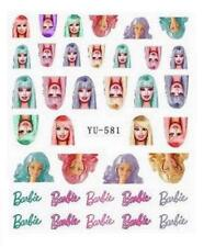Barbie Doll 3D Nail Art Sticker Decal Decoration Manicure Water Transfer