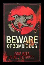 Blindage Métallique Zombie Dog Panneau Pour Porte Chien Avertissement