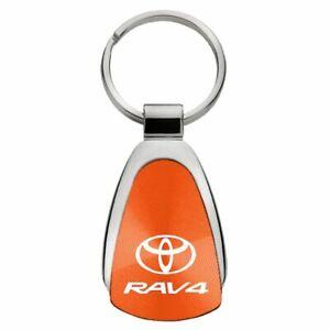 Toyota RAV4 Key Ring Orange Teardrop Keychain